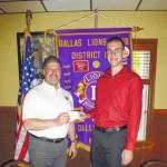 Dallas Lions Club awards scholarships to Caroline Thomas and Brian Drouse