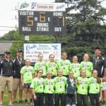 Sliders are Back Mountain Little League Major Softball champions