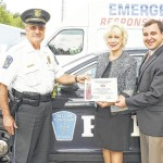 State Reps. Karen Boback and Aaron Kaufer honor Dallas Twp. Police Chief Robert Jolley
