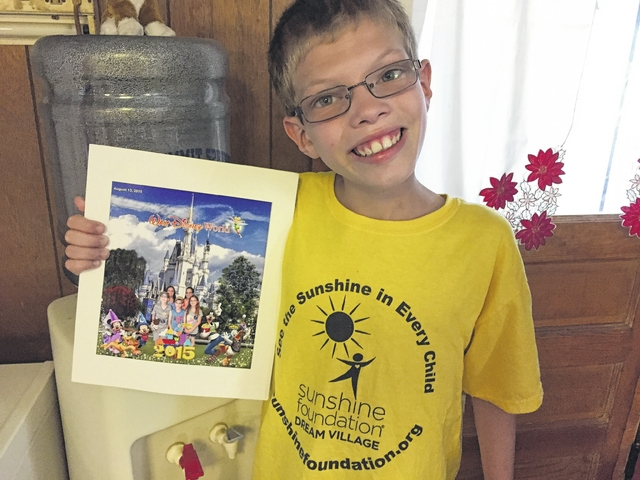 Christian Martin, Dallas, granted a trip to the Florida theme parks by the Sunshine Foundation