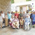 Residents of Meadows Nursing & Rehab Center in Dallas enjoy ice cream social