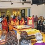 Tibetan monks creating sand mandala, delivering message of compassion at Misericordia