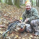 Rebecca Meehan, Harveys Lake, shoots first 5-pointer with crossbow