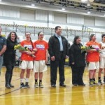 Lake-Lehman Girls Basketball team honors seniors during ceremony Feb. 1