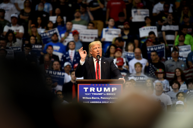 Trump wows supporters during rally at Mohegan Sun Arena