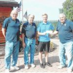 Dallas Council 8224 of the Knights of Columbus donate $1,000 to Go Joe XIX fundraiser