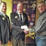 Dallas Lions Club receives contribution
