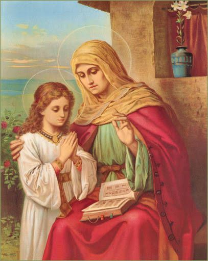 St. Ann is revered in Catholic tradition as the mother of the Blessed Virgin Mary and grandmother of Jesus.                                  catholictradition.org