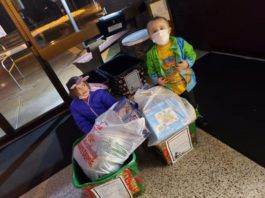 Lana Eiden, 7, left, and her brother, Alijah Seigle, 3, of Larksville, are shown with with bags filled with donated toys that will be distributed to children in need in the area.                                  Submitted