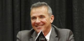 Then-Ohio State head coach Urban Meyer answers questions during a news conference in Columbus, Ohio, in 2018. Free agency feels a lot like recruiting to new Jaguars coach Urban Meyer. Watching film. Wooing players. Finding the right fits. Given Meyer's penchant for landing five-star prospects at Florida and Ohio State, Jacksonville could be a popular landing spot for some of the NFL's top free agents next week. It certainly should help that the Jaguars have more salary cap space (nearly $73 million) than any other team.                                  AP photo