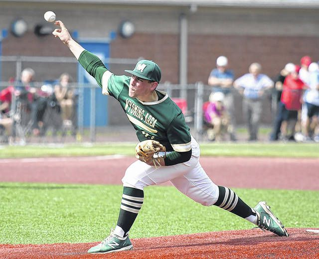 Wyoming Area's JJ Hood will start Monday's PIAA Class 4A semifinal game against Bonner-Prendie. First pitch is scheduled for 6:30 p.m. at DeSales University.                                  Tony Callaio file photo | For Times Leader