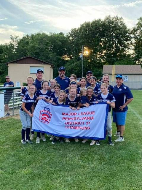 The Back Mountain Major Girls softball team.                                  Submitted photo