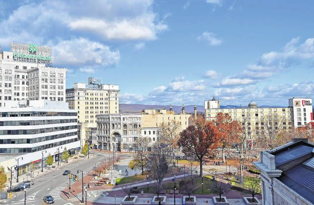 Wilkes-Barre Public Square is seen in this file photo. A new analysis shows minorities earn 23.4% less than non-Hispanic Whites in the Scranton/Wilkes-Barre/Hazleton Metropolitan Statistical Area.